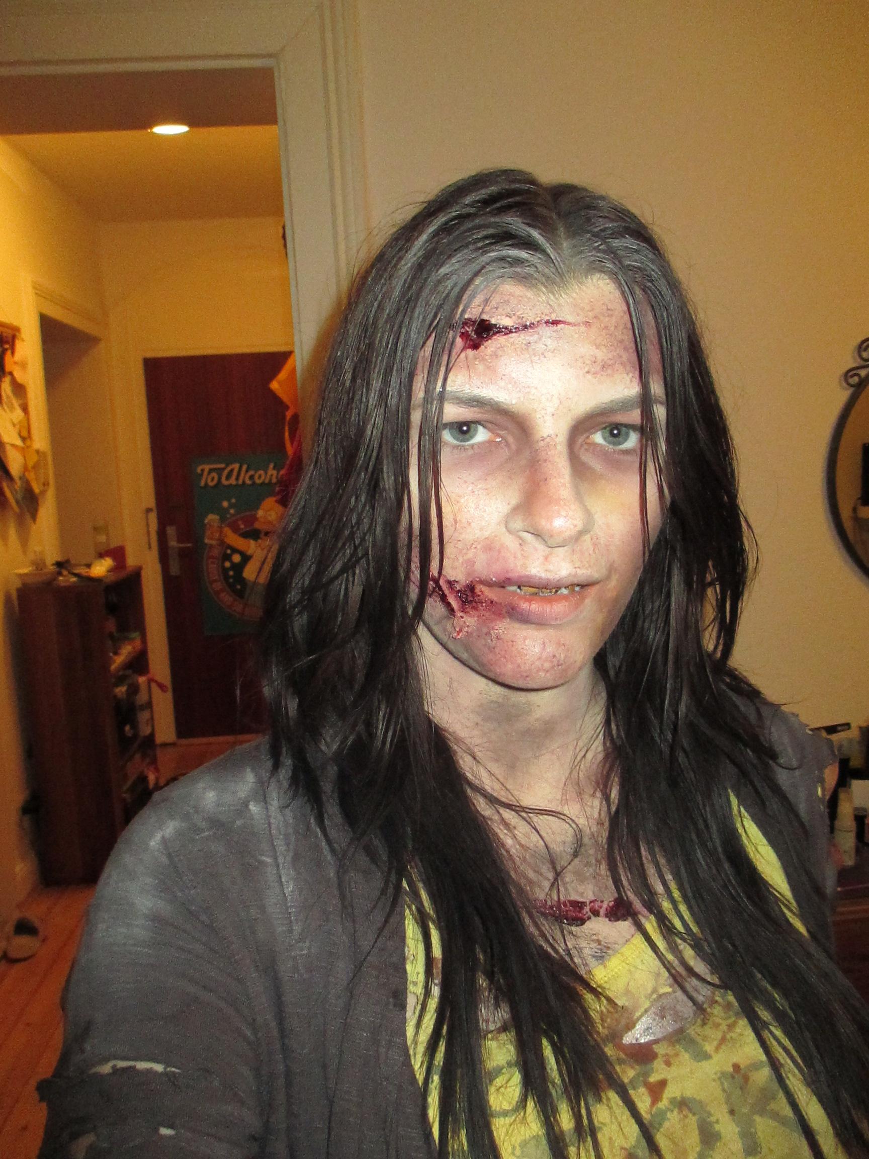 zombie trash movie kasia makeup artist. Black Bedroom Furniture Sets. Home Design Ideas